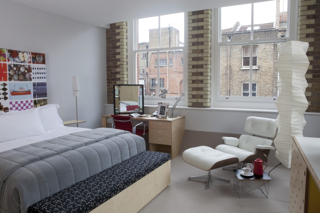 De Eames kamer van Boundary Hotel in East-London