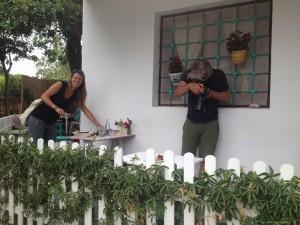 Kim en Yani bij Can Guimo (foto: Caperleaves)