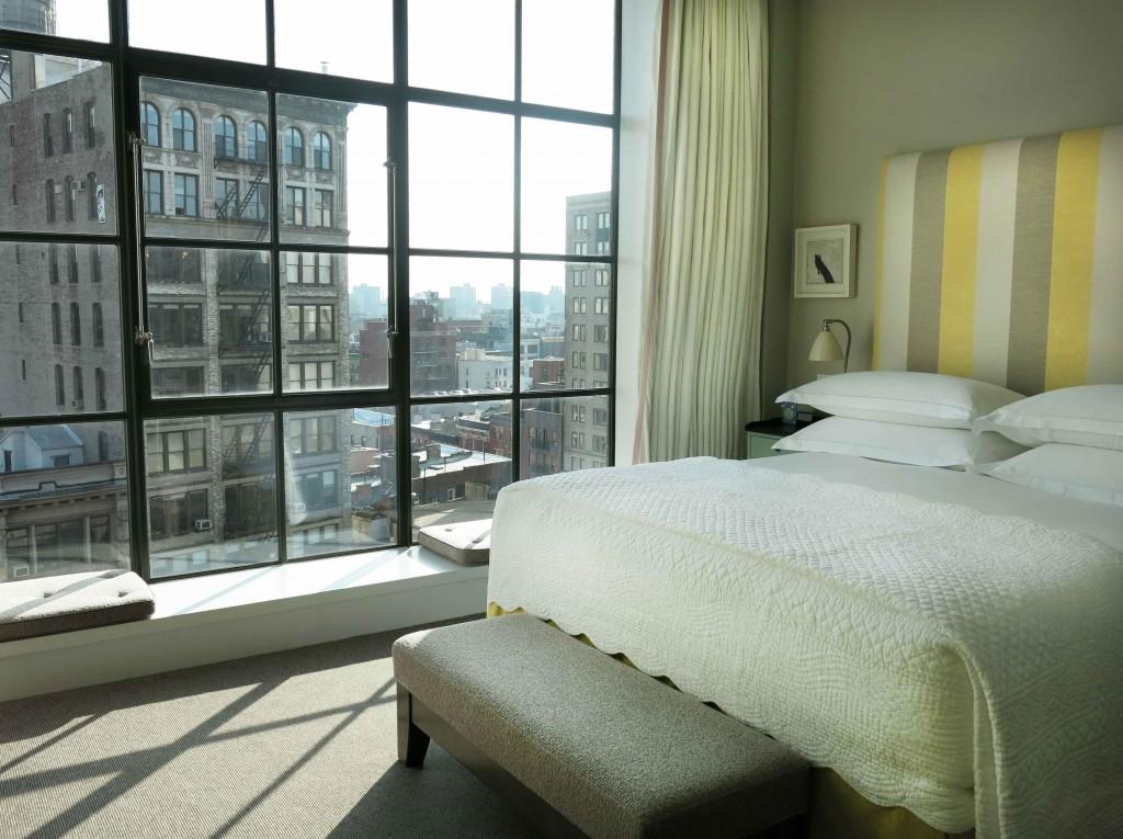 Kamer in Crosby Street Hotel (foto Caperleaves)