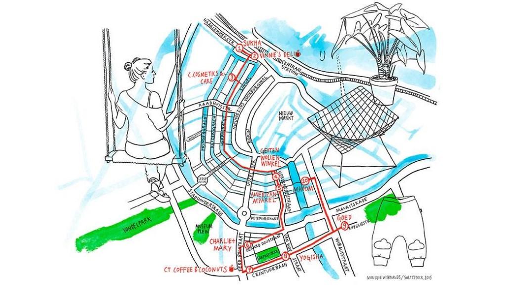 Een van onze shoppingroutes voor iAmsterdam